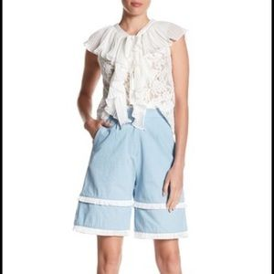 New TOV Tiered Fringe High Waisted Shorts